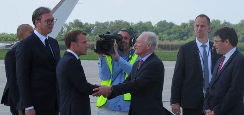 Presidents Emmanuel Macron and Aleksandar Vučić launch the ...