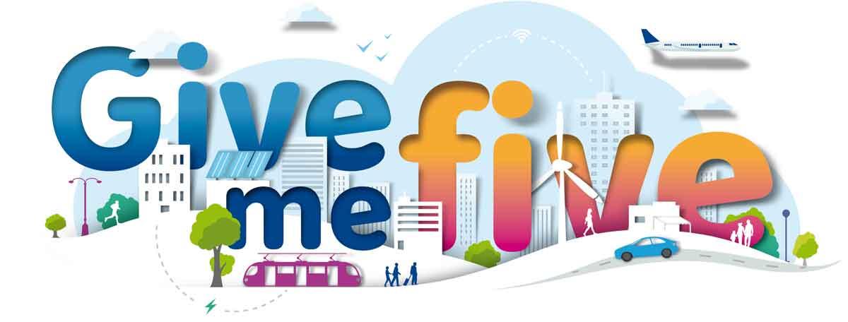 Logo Give Me Five Program