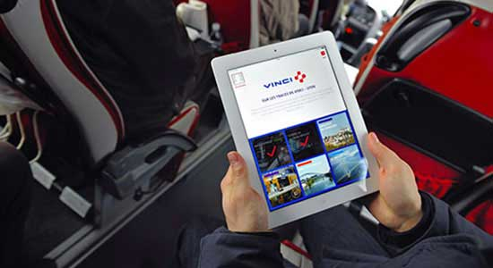 Mobile application VINCI news