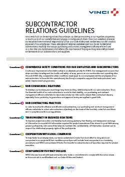 Subcontractor relations guidelines