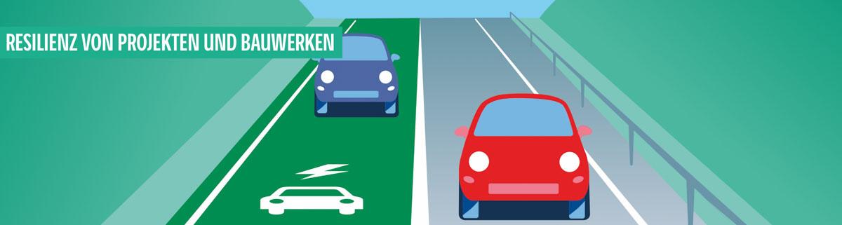 Senkung des bau- und nutzerverursachten CO2-Fußabdrucks von Straßen